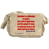 Socialism is a Philosophy of Failure Messenger Bag