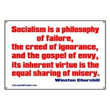 Socialism is a Philosophy of Failure Banner