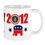 ROMNEY JINDAL PRESIDENT 2012 BUMPER STICKER Small Mugs