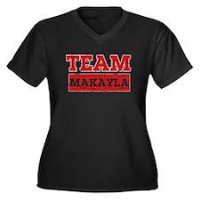 Team Makayla Women's Plus Size V-Neck Dark T-Shirt