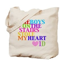 The Boys on the Stairs Stole My Heart Tote Bag
