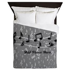 Cute Musical and personalized Queen Duvet