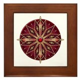 Native American Rosette 13 Framed Tile