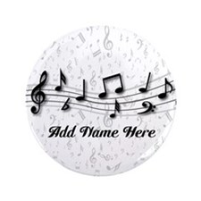 "Personalized Musical Notes design 3.5"" Button"