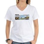 0656 - Landing in Oshkosh Women's V-Neck T-Shirt