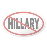 No Hillary Euro Oval Decal