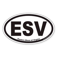 Eastern Shore of Virginia ESV Euro Oval Decal