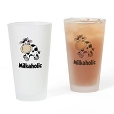 Milkaholic Drinking Glass