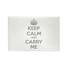 Keep calm and carry me Rectangle Magnet (100 pack)