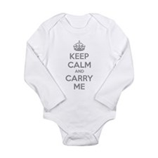 Keep calm and carry me Onesie Romper Suit