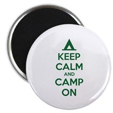 "Keep calm and camp on 2.25"" Magnet (10 pack)"