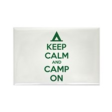 Keep calm and camp on Rectangle Magnet
