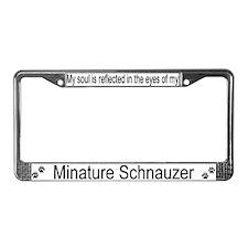 """Minature Schnauzer"" License Plate Frame"