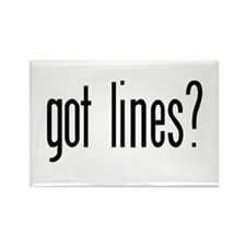 Got lines? Rectangle Magnet