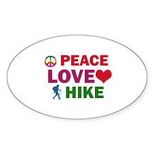 Peace Love Hike Designs Decal