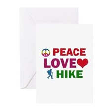 Peace Love Hike Designs Greeting Cards (Pk of 10)
