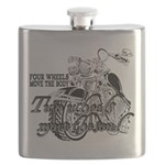 Two wheels move the soul Flask