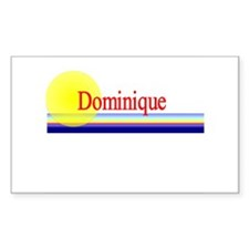 Dominique Rectangle Decal