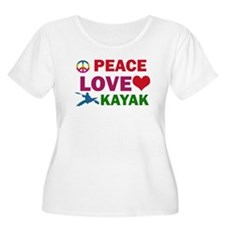 Peace Love Kayak Designs T-Shirt