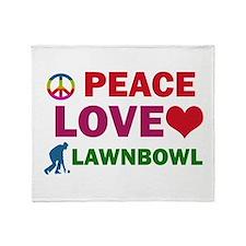 Peace Love Lawnbowl Designs Throw Blanket
