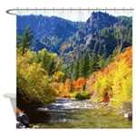 Wood camp Shower Curtain