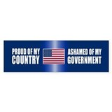 ASHAMED OF MY GOVERNMENT Bumper Car Sticker