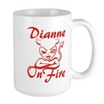 Dianne On Fire Large Mug
