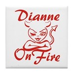 Dianne On Fire Tile Coaster