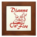 Dianne On Fire Framed Tile