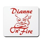 Dianne On Fire Mousepad