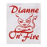 Dianne On Fire Throw Blanket