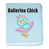Tweeting Ballerina Chick baby blanket
