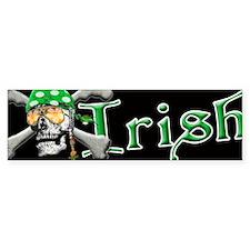 Irish Pirate Scull and Bones Bumper Sticker