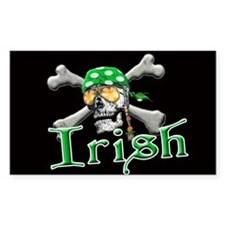 Irish Pirate Scull and Bones Decal