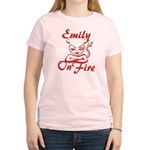 Emily On Fire Women's Light T-Shirt