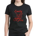 Emily On Fire Women's Dark T-Shirt