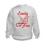 Emily On Fire Kids Sweatshirt