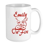 Emily On Fire Large Mug