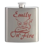 Emily On Fire Flask