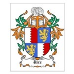 Rice Coat of Arms Small Poster