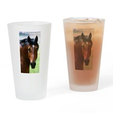 Horse portrait 2 Drinking Glass