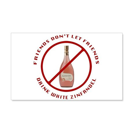 No White Zin 20x12 Wall Decal