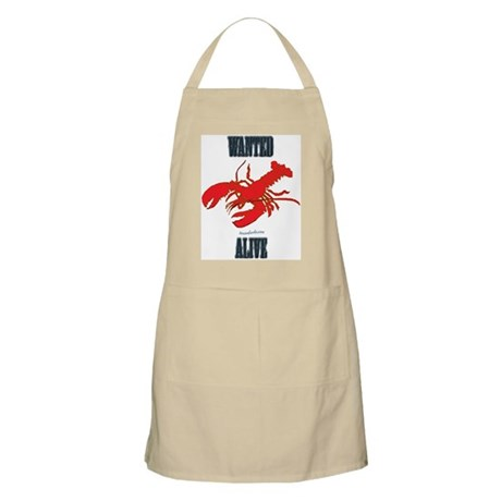Lobster Wanted Alive BBQ Apron