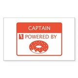 Captain Powered by Doughnuts Decal