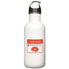 Camp Nurse Powered by Doughnuts Water Bottle
