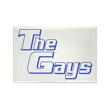 The Gays Rectangle Magnet