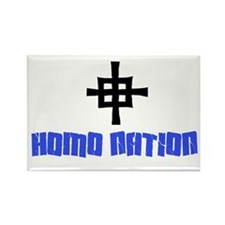 Homo Nation Rectangle Magnet