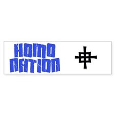 Homo Nation Bumper Bumper Sticker