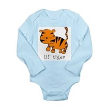 Cute Tiger shower Long Sleeve Infant Bodysuit