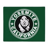 Yosemite Green Circle Throw Blanket